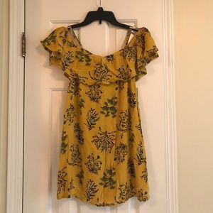 BP yellow off the shoulder dress